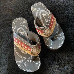 Patriotic rhinestone sandals